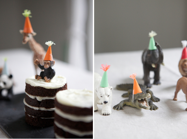Party animals with hats