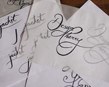 Hand typography